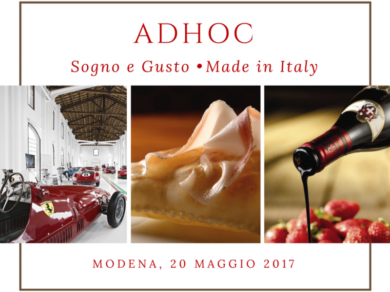 AdHoc: Sogno e Gusto Made in Italy