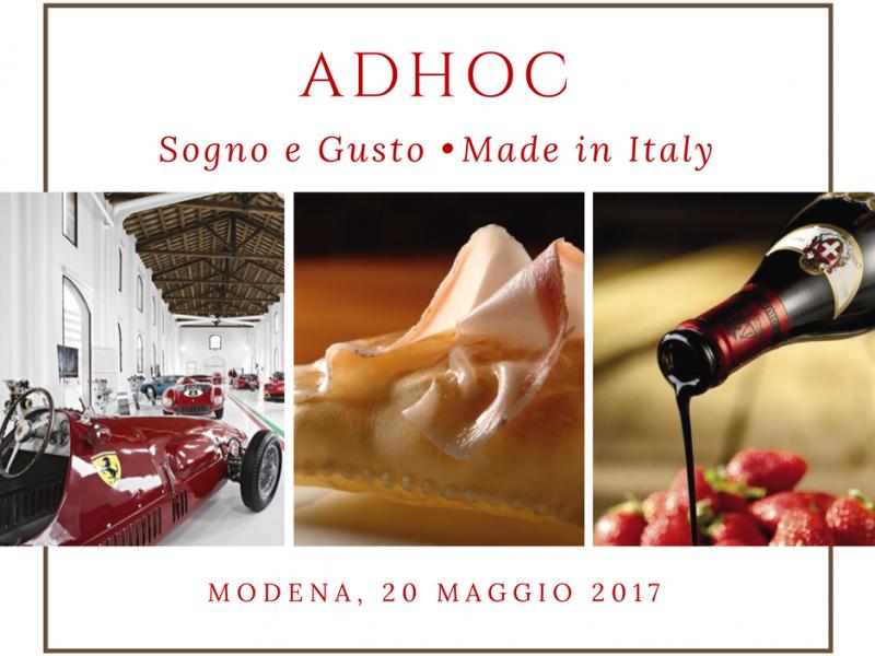 AdHoc: Sogno e Gusto Made in Italy